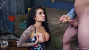 Cumhungry Arabelle Makes Mark Erupt Over And Over