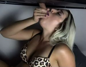 Sexy Blonde Milks Him Onto Her Tits